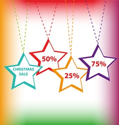 Sale tags background vector image vector image