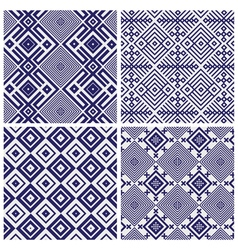 blue geometric patterns vector image