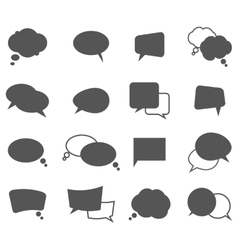 Cartoon speech bubbles in oval and rectangle shape vector image vector image