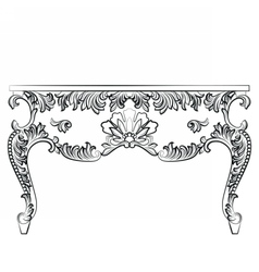 Rich Baroque style Table vector image vector image