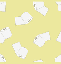 Roll of toilet paper seamless pattern vector