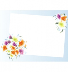 template with bouquet vector image