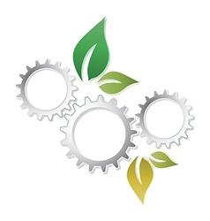 Abstract eco gear leaf presentation vector