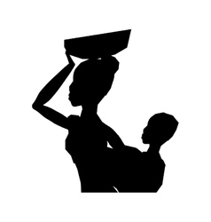 African woman baby vector image