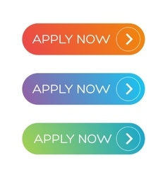 Apply Now button set vector