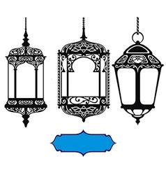 Arabic lanterns vector