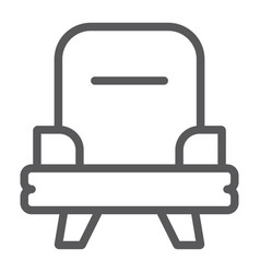 armchair line icon furniture and home chair sign vector image