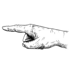 artistic or drawing of hand with finger pointing vector image