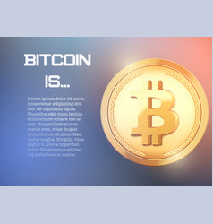 Background of bitcoin information vector