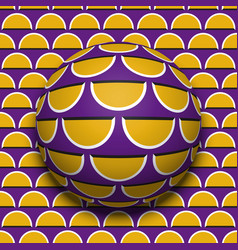 Ball rolling along surface optical vector