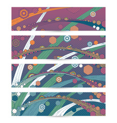 banners with drops of dew on grass vector image