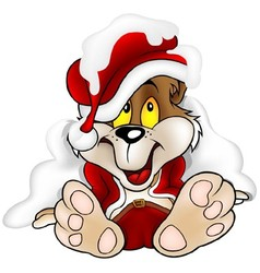 Bear Santa Claus vector image