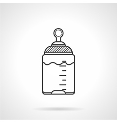 Black line icon for baby bottle vector image