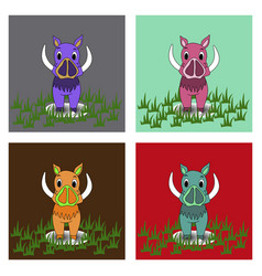 Boar on a background vector