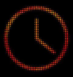 bright pixel clock icon vector image
