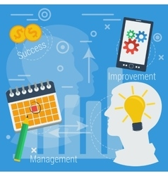 Business concept successful management vector image