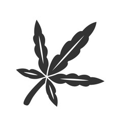 Cannabis leaf color icon weed product ganja vector