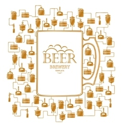 Card template with beer brewery element vector image