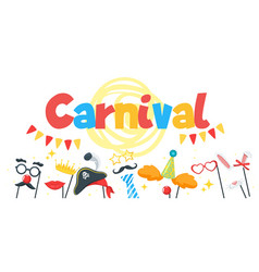 carnival party vector image