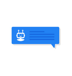 chatbot banner concept user chatting with chatbot vector image