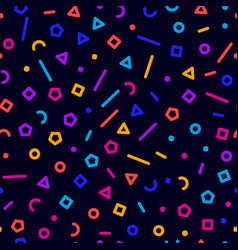 colorful geometrical shapes seamless background vector image