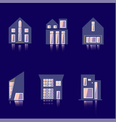 cool detailed house icon isolated on white vector image