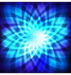 Cosmic blue flower vector image