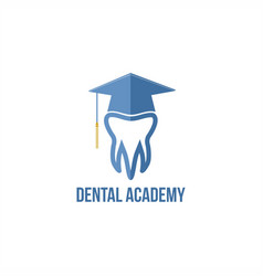 dental academy logo vector image