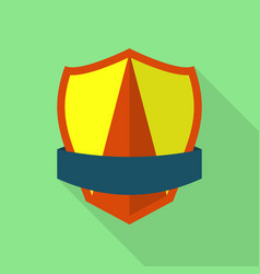 Dependable shield icon flat style vector