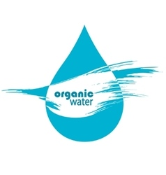 drop of clean water vector image