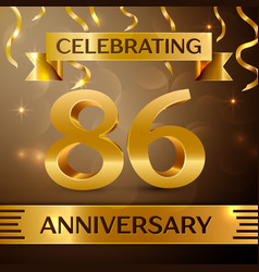 Eighty six years anniversary celebration design vector
