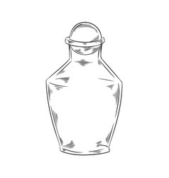 empty bottle black and white doodle vector image