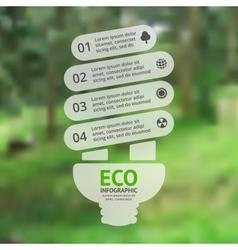 Energy efficient light bulb green eco vector