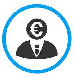 Euro banker rounded icon vector