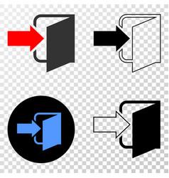 exit door eps icon with contour version vector image