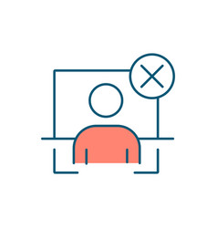 Fake profile rgb color icon vector