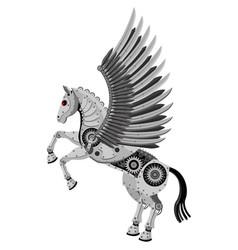 fantastic horse pegasus in style vector image