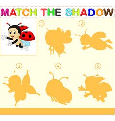 Find the correct shadow of the ladybug vector