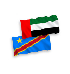 Flags united arab emirates and democratic vector