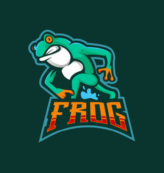 Frog esport mascot logo design vector