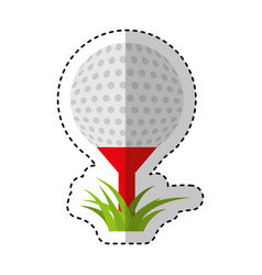 Golf sport ball icon vector