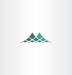 Green halftone mountain icon logo vector