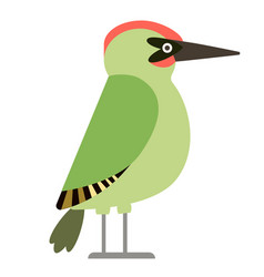 Green woodpecker flat vector