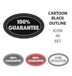 guarantee label icon in cartoon style isolated on vector image
