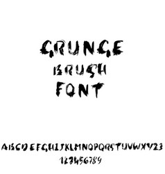 Hand drawn dry brush font modern brush lettering vector