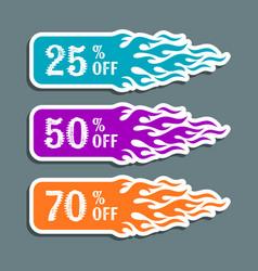 hot sale labels vector image