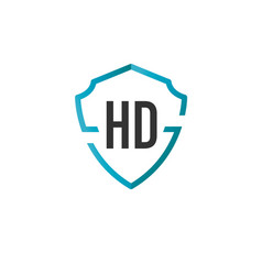 Initials letter hd creative shield design logo vector