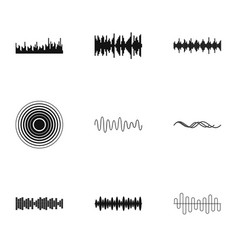Interference icons set simple style vector