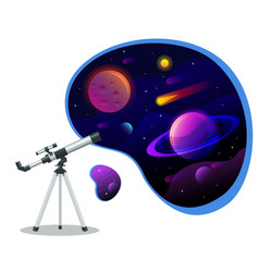 isometric astronomical observatory dome vector image