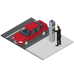 Isometric Parking meter Parking meter did not vector